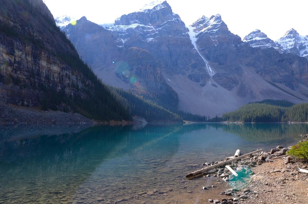 Moraine Lake, Banff, Alberta by @watereddownapparel