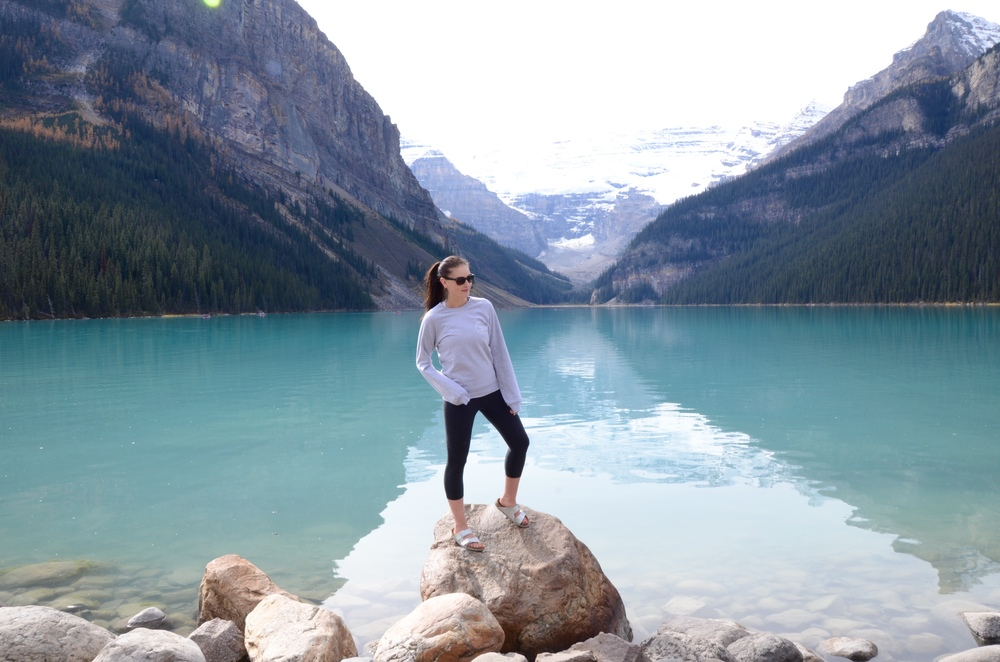 Classic Lake Louise shot complete with Birkenstocks and side glance. @sierabearchell