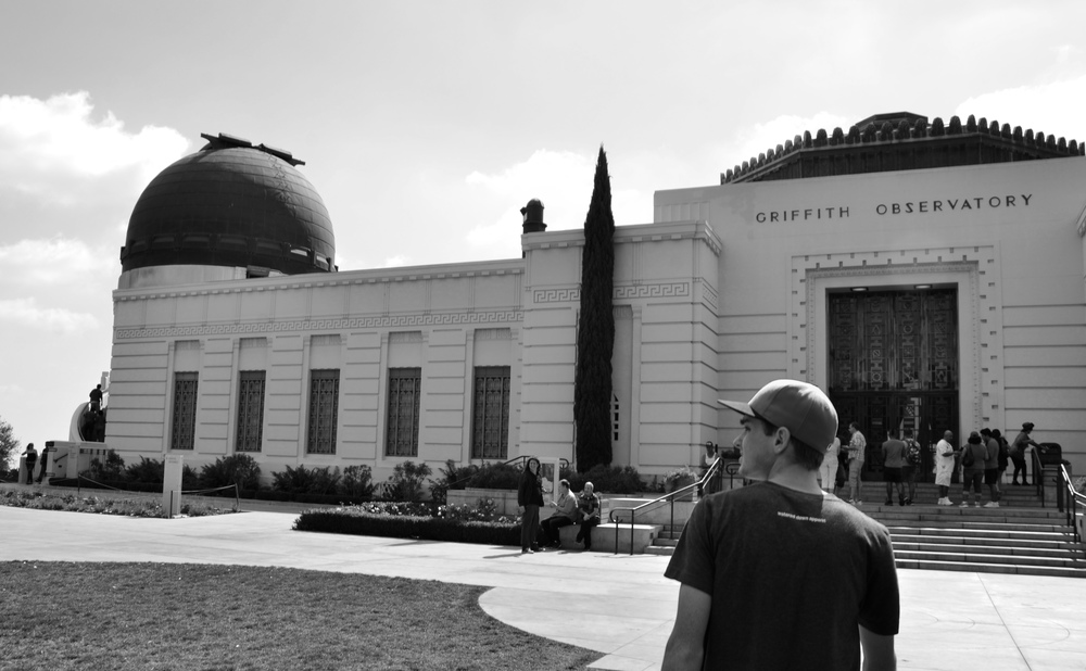 @leightonbearchell about to learn some things about space at the Griffith Observatory in Los Angeles, California.