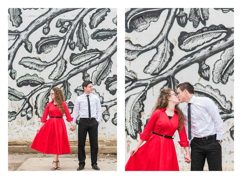 Downtown Lexington engagement photos