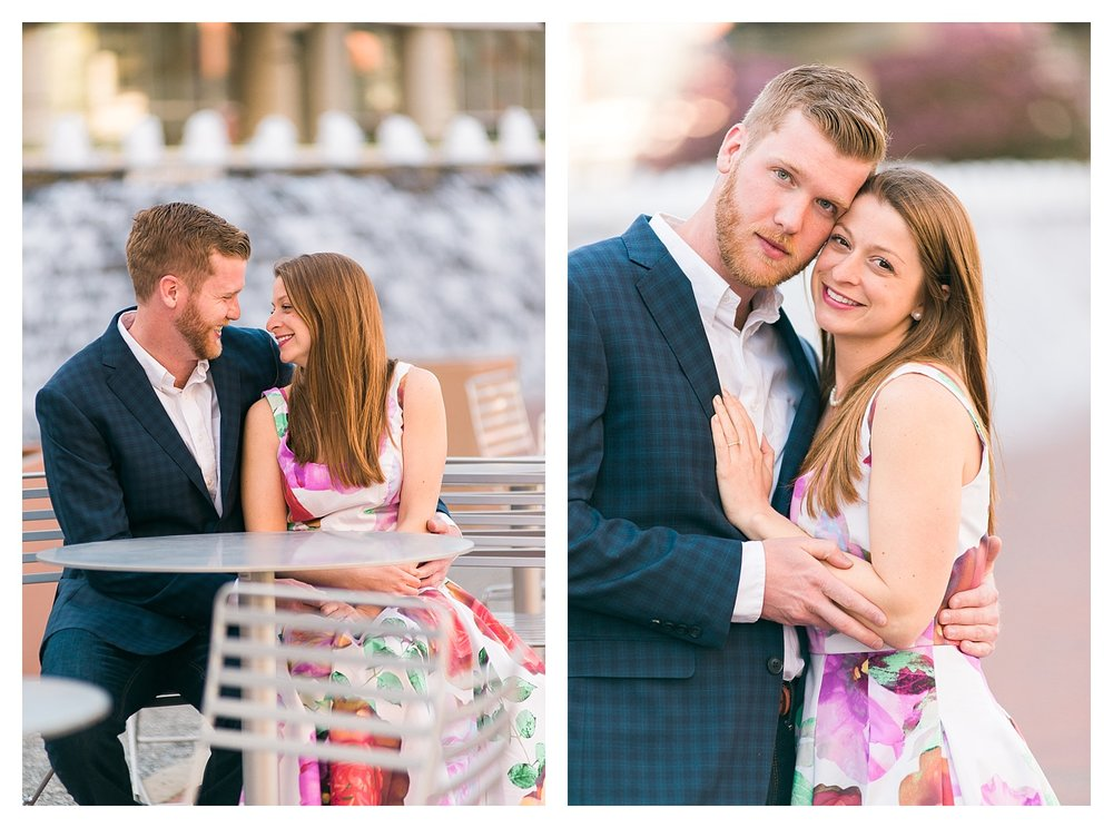 Triangle Park engagement photos