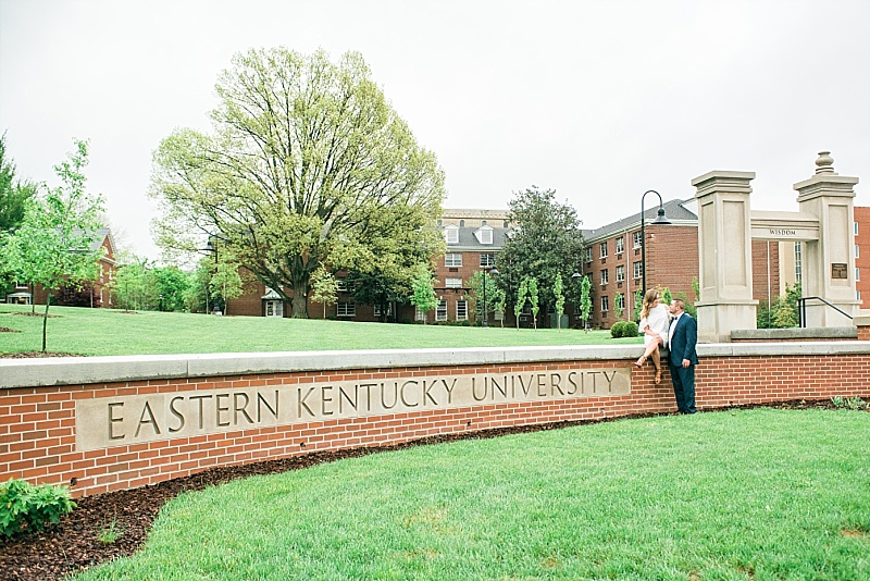 Eastern Kentucky University campus engagement photos