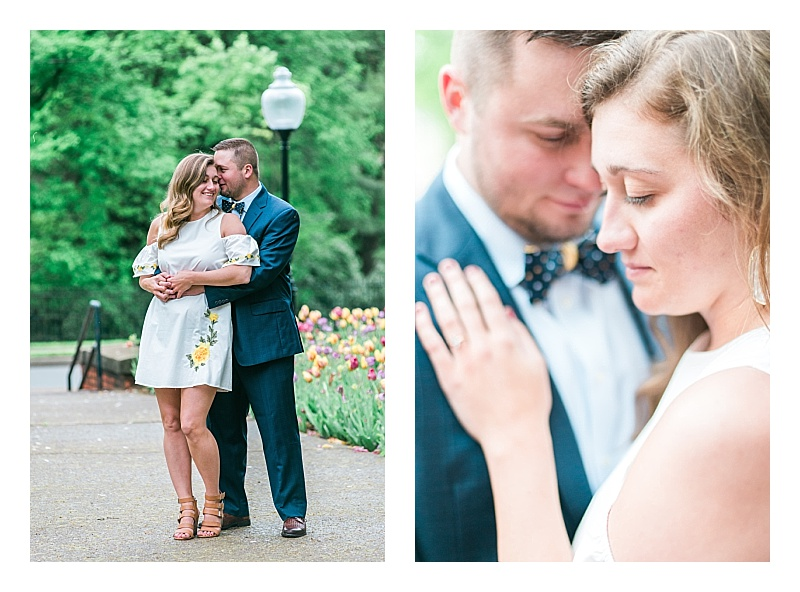 romantic engagement photos in KY