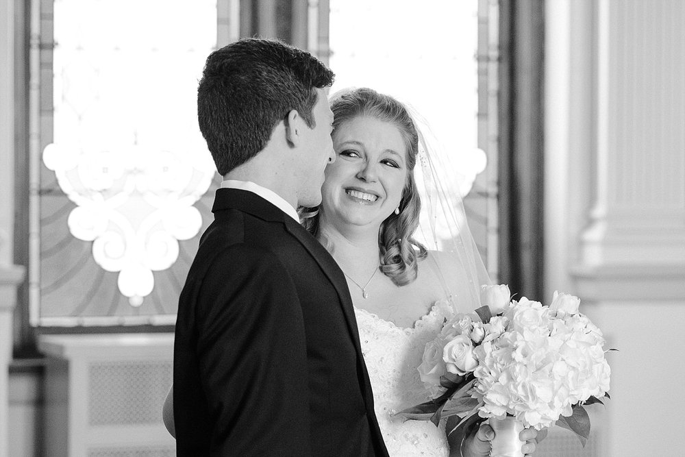 Sweet moment of the bride with her brother at the Cardome Center in Georgetown.