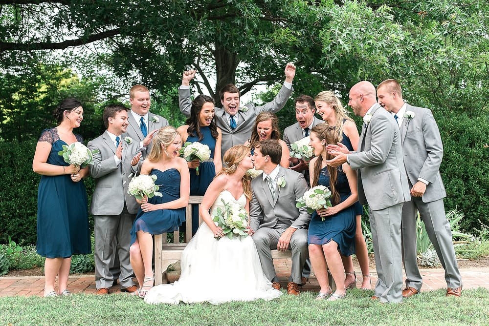 Such a great bridal party and they did not complain about the heat!