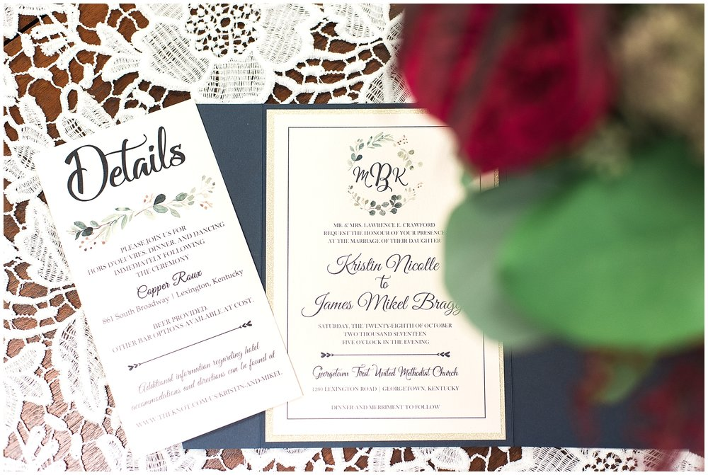 The maid of honor designed these gorgeous invitations!  Check out Pixelstix on Etsy!