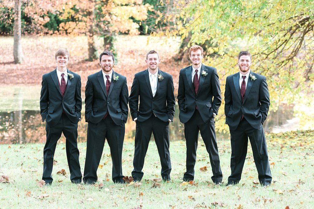 groomsmen-by-pond