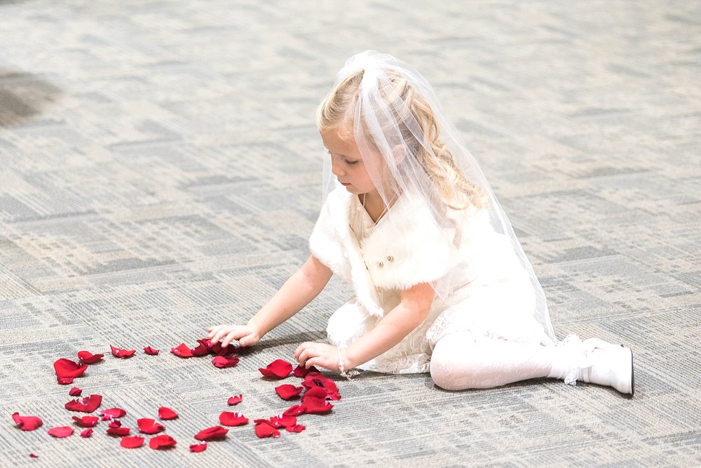 She played with those petals for the longest time!