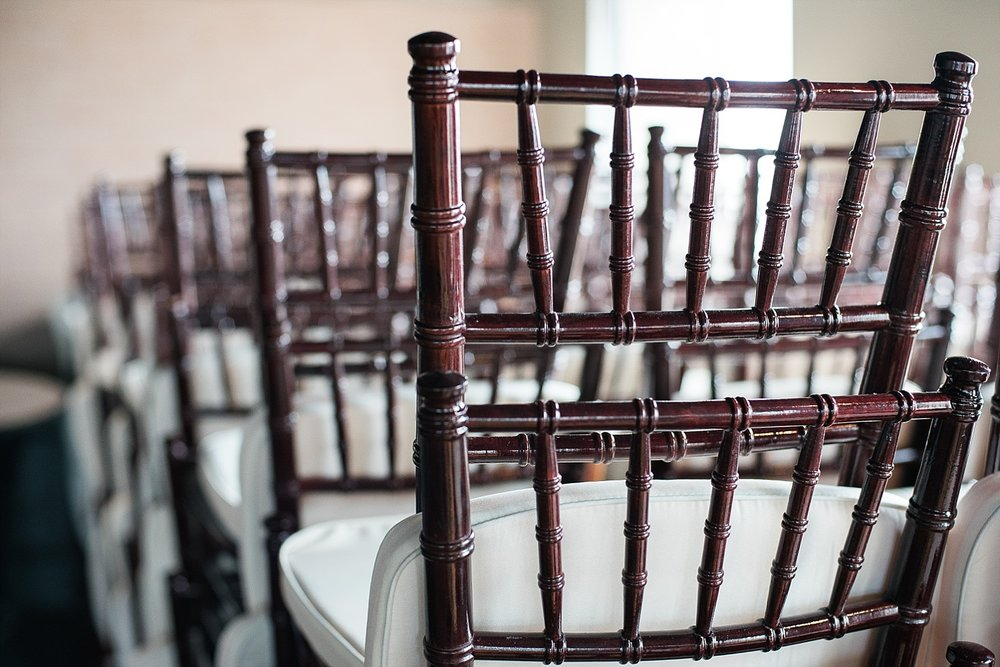 We love the chiavari chairs that are available for weddings and receptions!