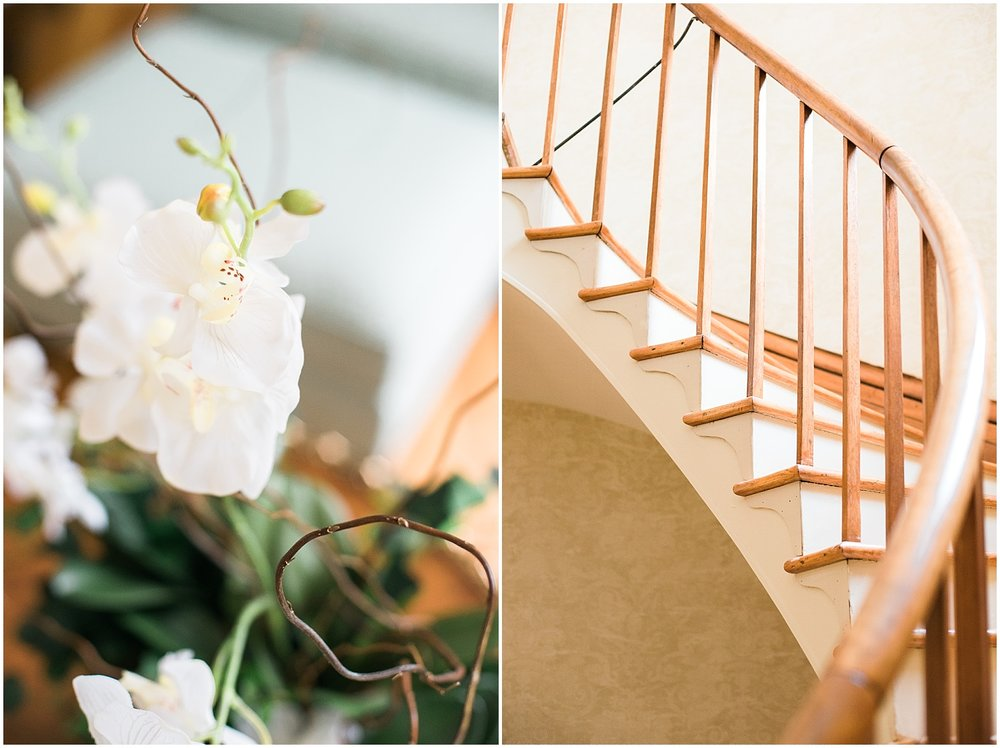 A bride walking down that staircase?  Perfection!