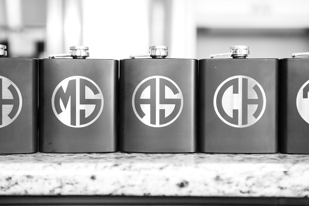 Gifts for the groomsmen.