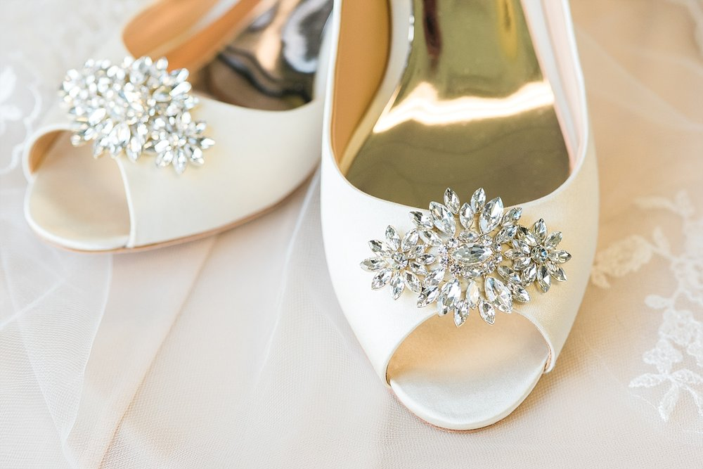 Jordan's Badgley Mischka shoes were to die for!