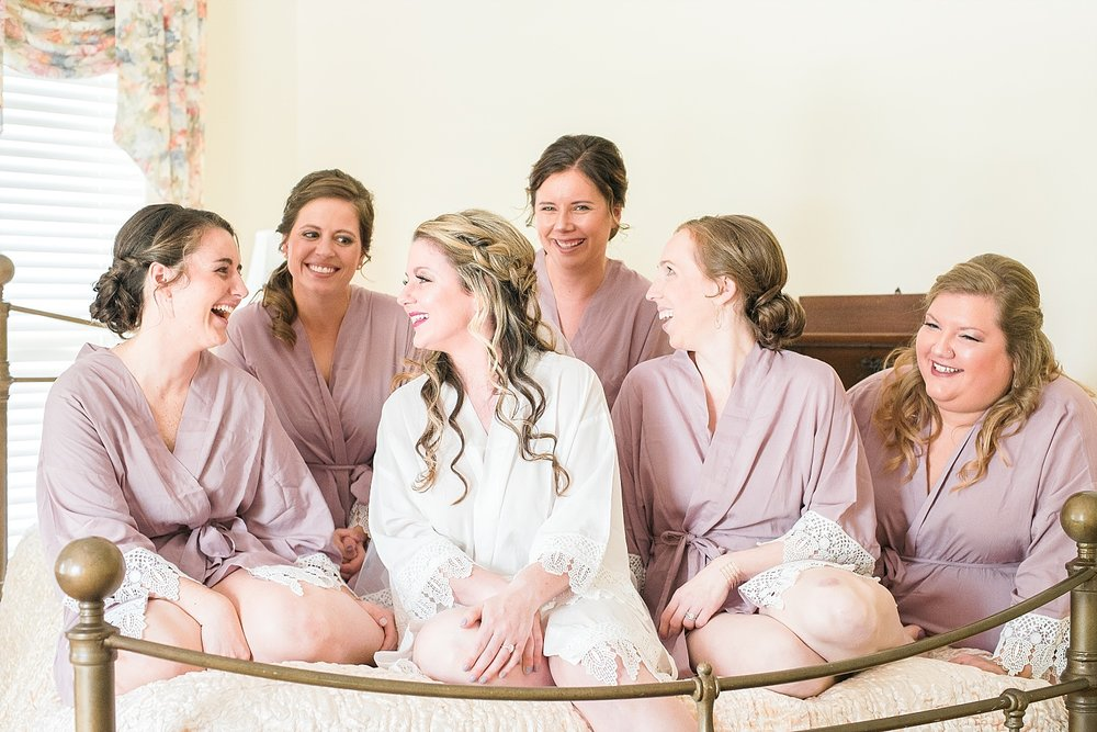 Megan and her bridesmaids' wore the most beautiful robes!