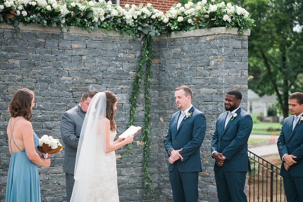 Meredith reading from her journal as part of her vows...were there any dry eyes?!