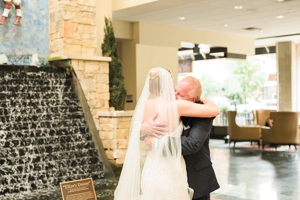 This first look with dad was so sweet!