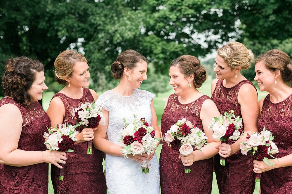 burgundy-bridemaids-dresses