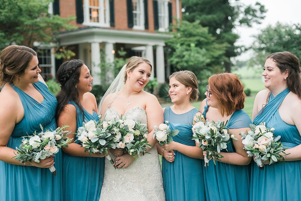 dusty-teal-bridesmaids-dresses