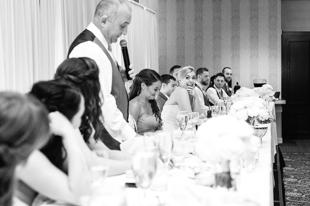 Love the look on Lauren's face while her dad is giving a speech!