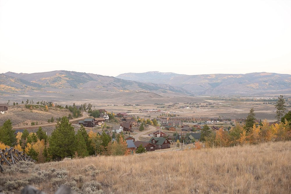 You can see a view of Granby, Colorado with our resort, Silvercreek Inn, down there!