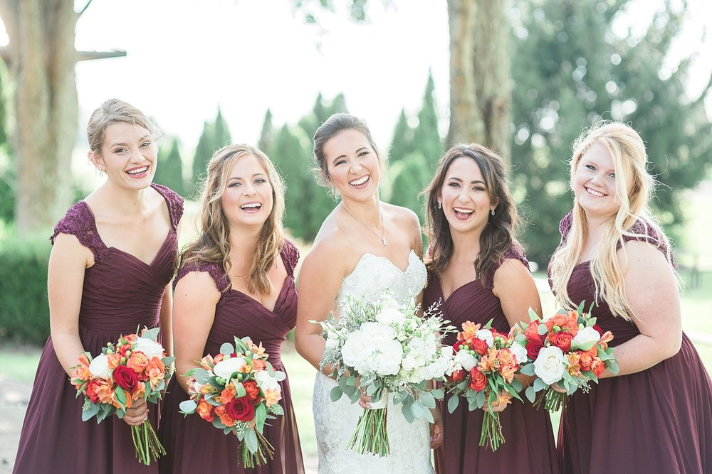 burgundy-bridesmaids-dresses