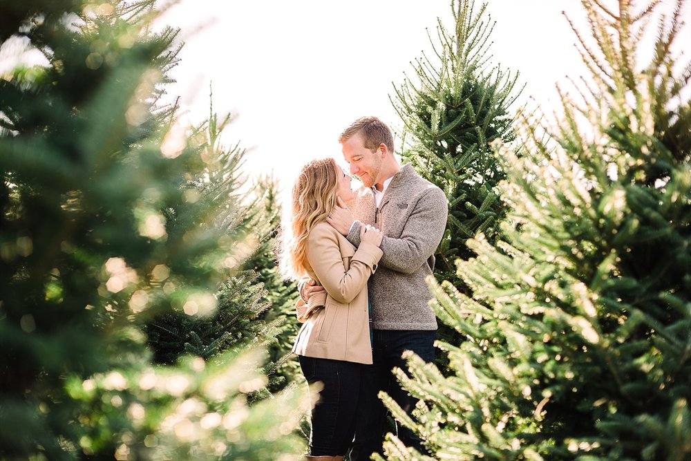 Engagement session at neiman s christmas tree farm lindsey