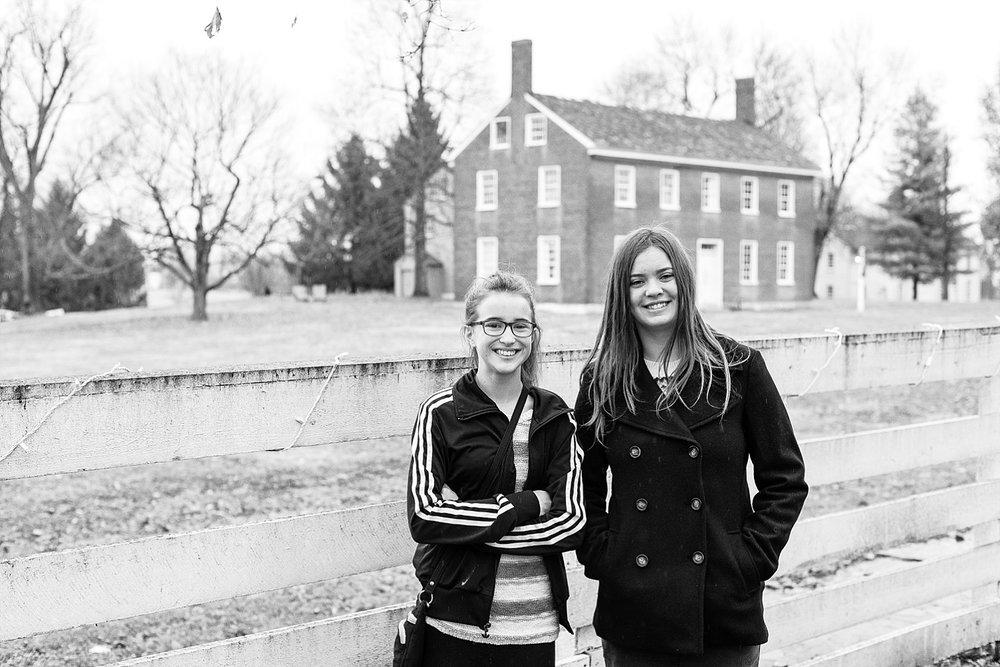 Olivia (right) with her best friend, Mackenzie