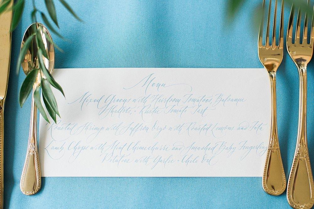 calligraphy-menu