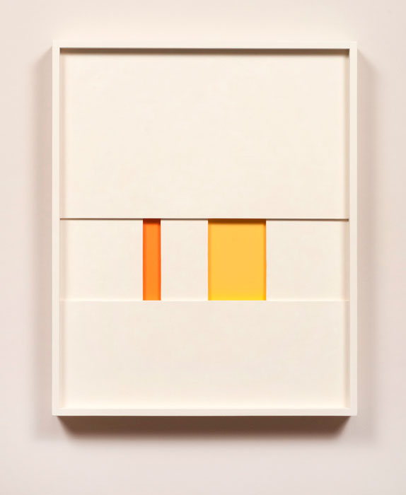 John Pittman,  #195 - RA , 2011, alkyd on wood relief 16 x 13 x 1.5 in