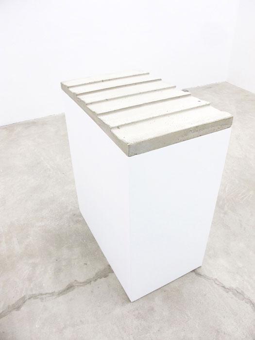 Charles Harlan, Concrete Siding , 2012, concrete,37 x 18 x 30.5 in