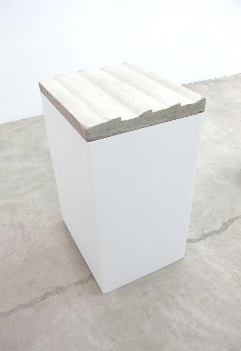 Charles Harlan, Concrete Siding , 2012, concrete,37 x 20 x 25 in