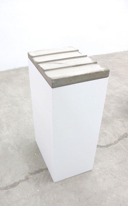 Charles Harlan, Concrete Siding , 2012, concrete,37 x 14 x 20 in