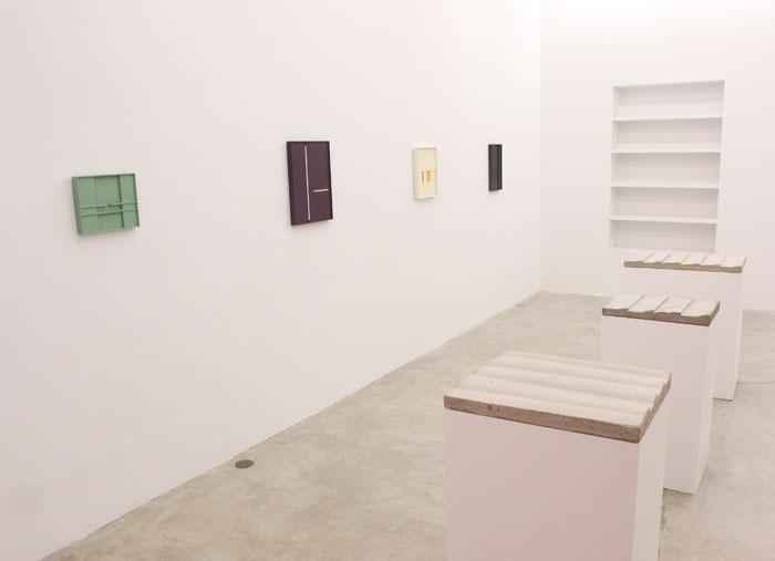 Installation view, Aaron Aujla, Charles Harlan, John Pittman , Martos Gallery, New York, 2013