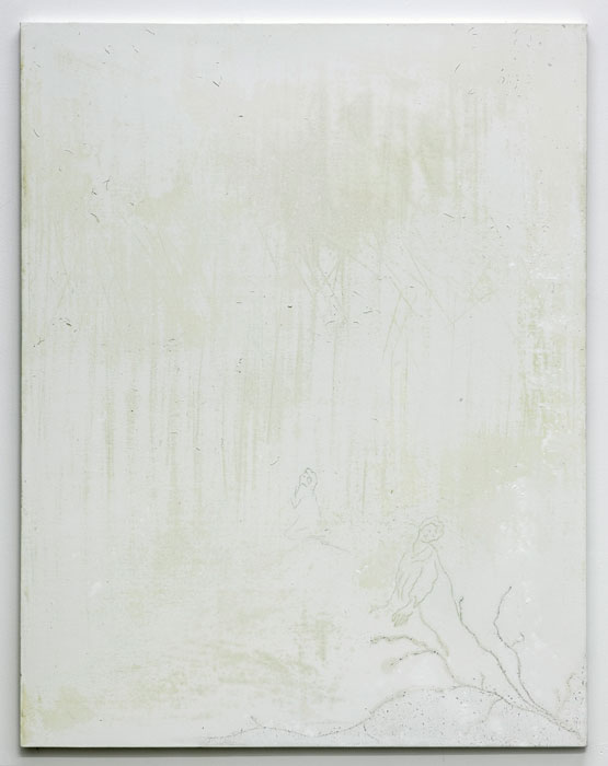 Aleksander Hardashnakov,  Trespiss , 2012, oil, gesso, rubber on canvas, 62 x 48 in