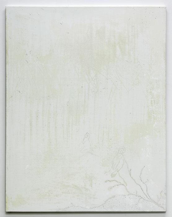 Aleksander Hardashnakov, Trespiss ,2012,oil, gesso, rubber on canvas,62 x 48 in