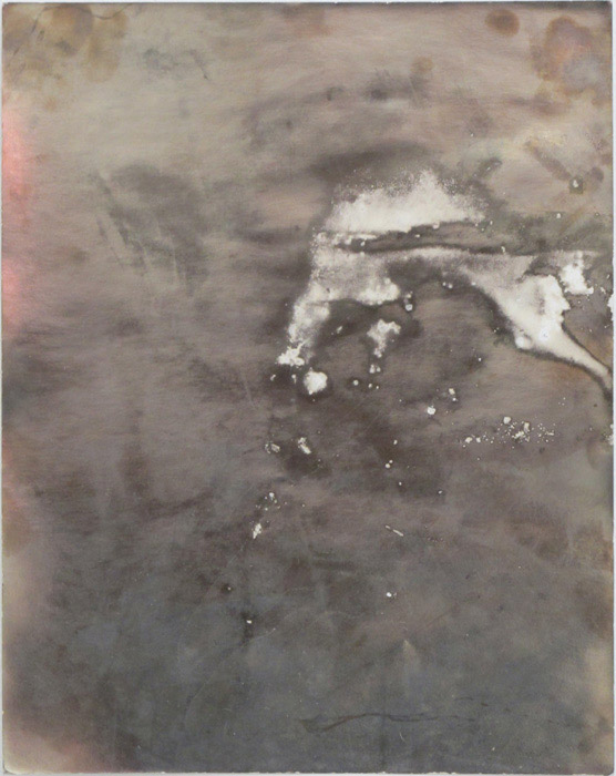 Ryan Foerster,  [not yet titled] , 2012, corroded silver gelatin print, 9.875 x 7.875 in