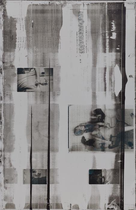 Ryan Foerster, Anders' Orgy, 2012,aluminum printing plate,35 x 23 in