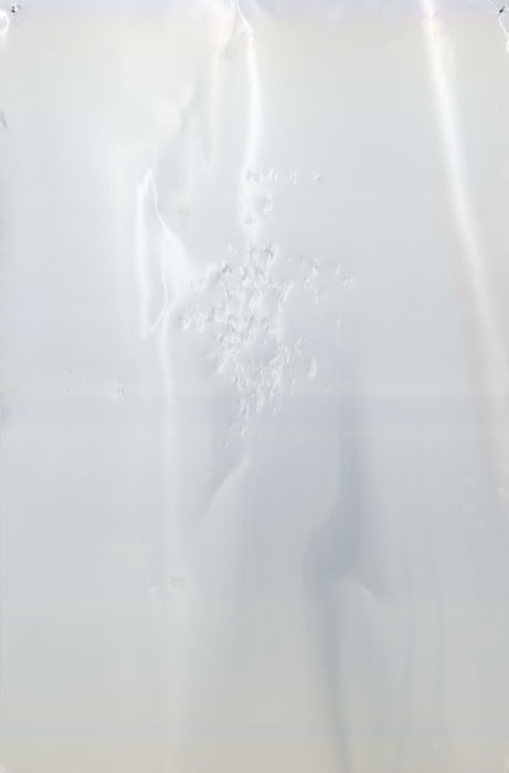 Ryan Foerster,  Untitled , 2012, aluminum printing plate, 35 x 23 in