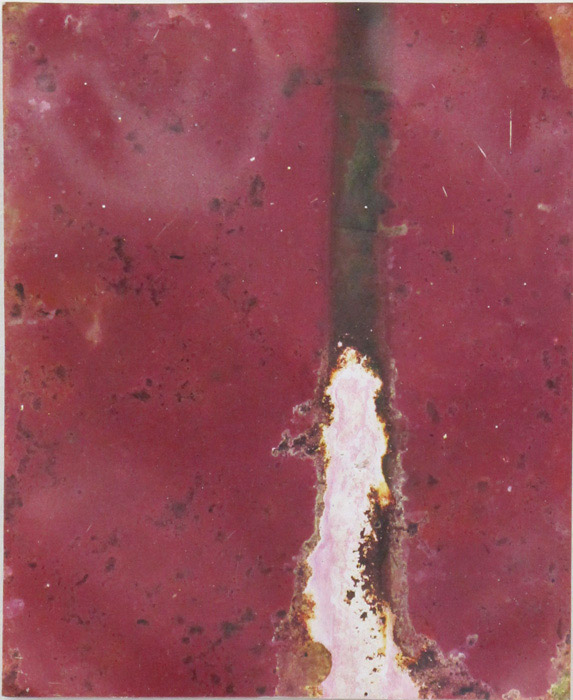 Ryan Foerster,  Untitled,  2012, corroded C-print, 10 x 8 in
