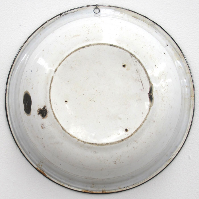 Ryan Foerster,  Untitled,  2012, metal bowl, 12 x 12 in
