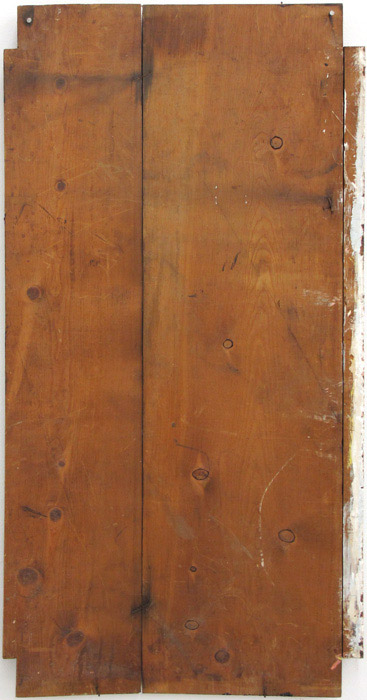 Ryan Foerster,  Untitled,  2011, found wood, paint, 41.5 x 20.75 in