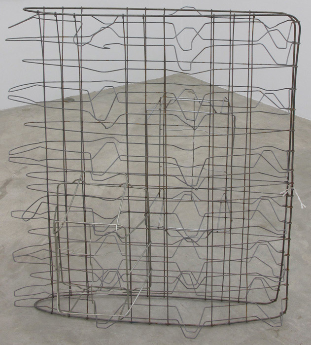 Ryan Foerster,  Single bed - double basket , 2012, bedframe and two baskets, 39 x 25 x 52.5 in