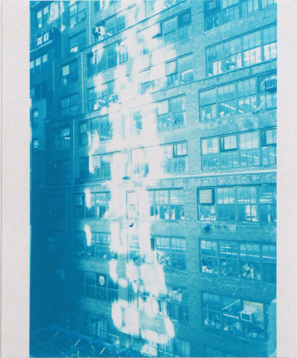 Ryan Foerster,  332 W 37th St - Blue , 2010, C-print, 10 x 8 in