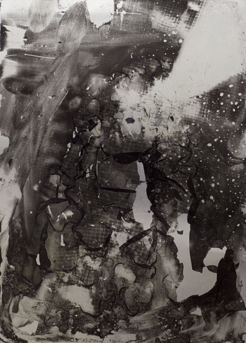 Ryan Foerster,  Small photo printing plate , 2012, 7 x 5 in