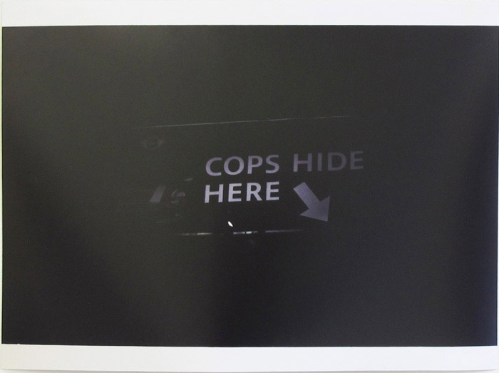 Ryan Foerster,  [cops hide here] , 2003-2012, C-print, 11 x 14 in