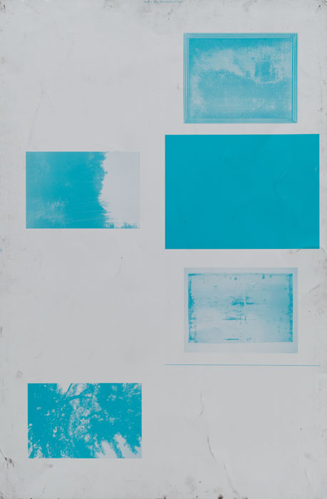 Ryan Foerster,  Blank printing plate , 2009, aluminum printing plate, 35 x 23 in