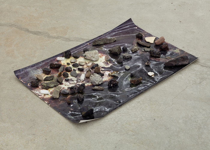 Ryan Foerster,  Sudbury, brighton beach etc. , 2012, C-print with slag and rocks, 30 x 20 x 2.5 in