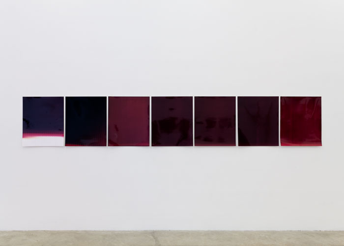 Ryan Foerster,  This Isn't Working - Magenta , 2010, C-prints, dimensions variable