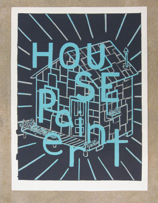 Andy Cross,  House Painter 2-D Print , 2012, silkscreen, 30 x 22 in, Edition of 100