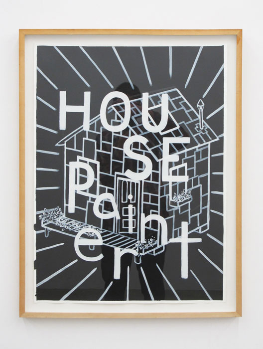 Andy Cross,  House Painter 2-D , 2012, acrylic on paper, 33 x 25 in