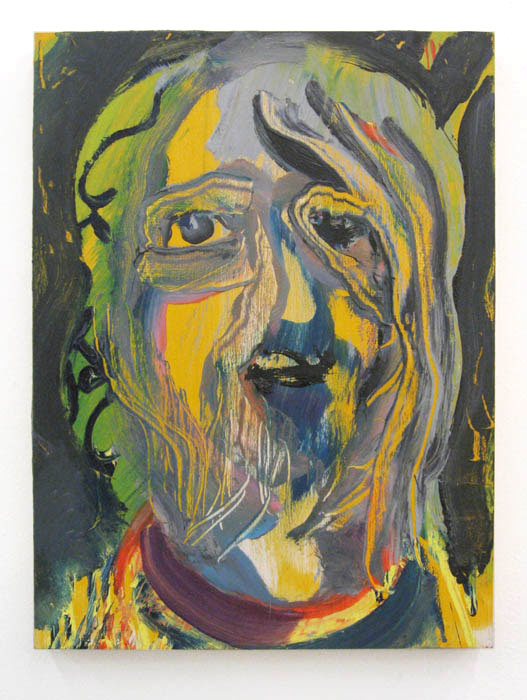 Andy Cross,  Sketchy Dude , 2011, oil on panel, 16 x 12 in